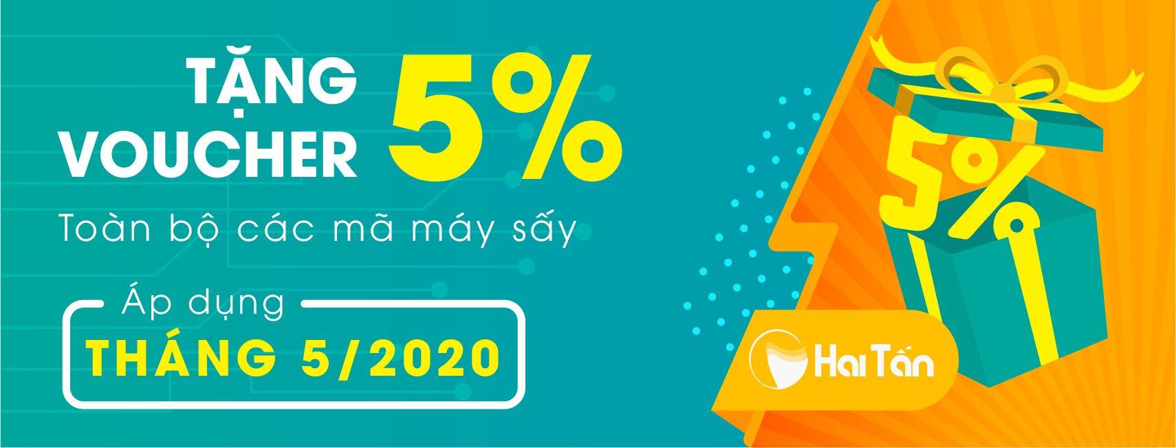 Ưu đãi lớn trong tháng 5/2020 tại Máy sấy Hai Tấn