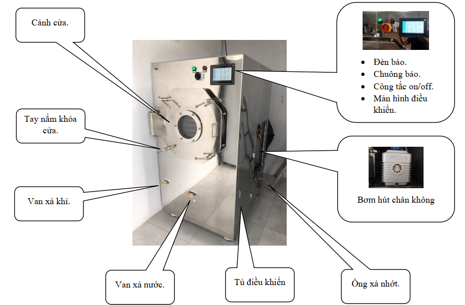 Thông số kĩ thuật cơ bản của máy thăng hoa